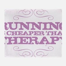 Running Therapy Purple Throw Blanket