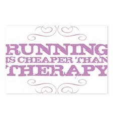 Running Therapy Purple Postcards (Package of 8)