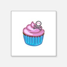 "Cupcake Queen BS Square Sticker 3"" x 3"""