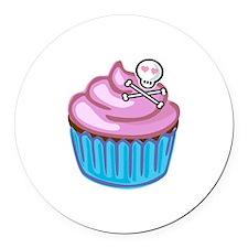 Cupcake Queen BS Round Car Magnet