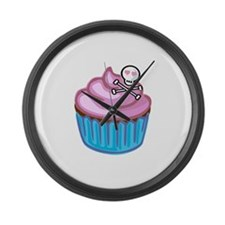 Cupcake Queen BS Large Wall Clock