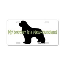 BrotherNewf Aluminum License Plate