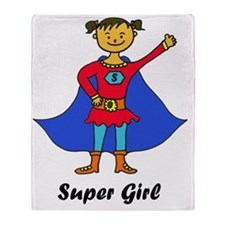 Super Girl_trans Throw Blanket