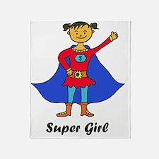 Super Girl_trans Throw Blanket