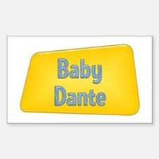 Baby Dante Rectangle Decal