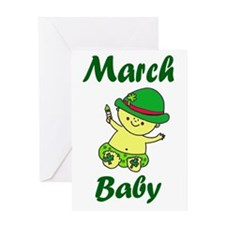 March Baby copy Greeting Card