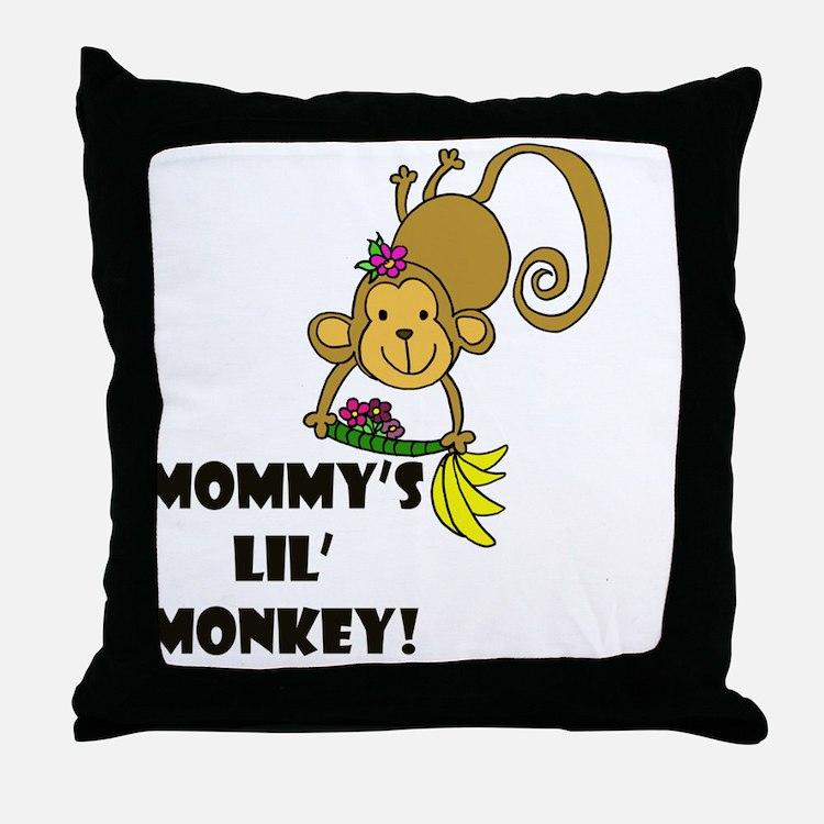 Monkey Morash Throw Pillow