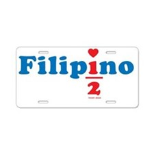 one_half_filipino Aluminum License Plate