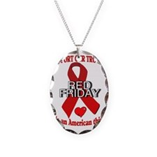 RED FRIDAY1 Necklace Oval Charm