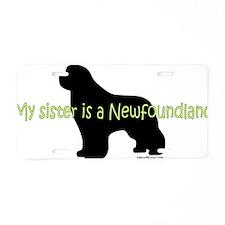 SisterNewf Aluminum License Plate