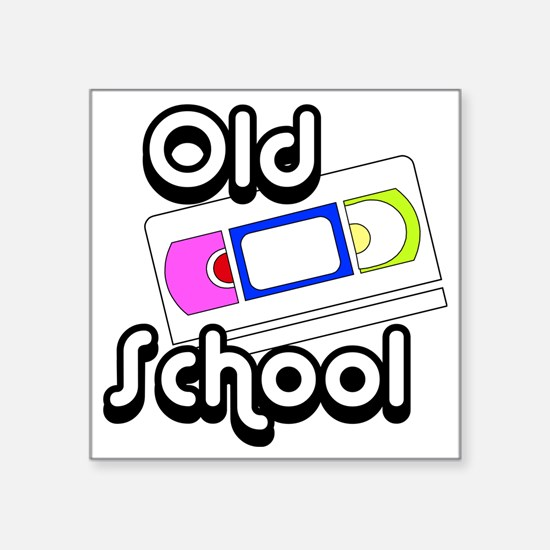 "Old School VHS2 Square Sticker 3"" x 3"""