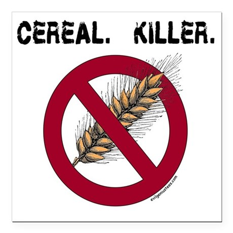 "cerealkillerhealth Square Car Magnet 3"" x 3"""