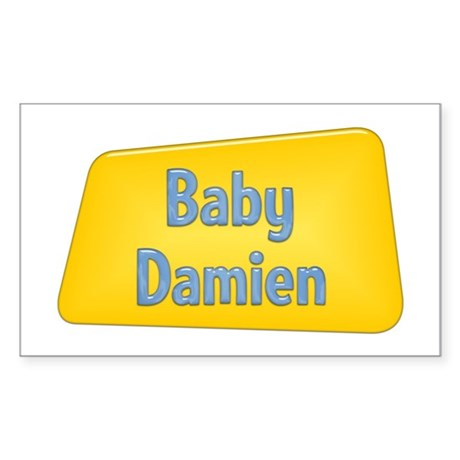 Baby Damien Rectangle Sticker