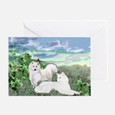 samoyed blanket Greeting Card
