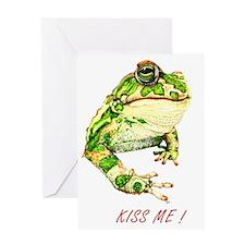 KissMeToad tshirtclairtextcrop Greeting Card