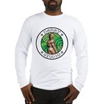 BEAR ASS Sports Long Sleeve White T-Shirt