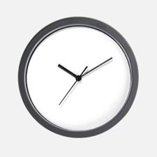 moustache_wh Wall Clock