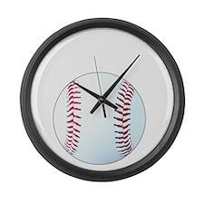 Baseball, Eat, Sleep, Breathe Bas Large Wall Clock
