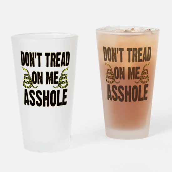 Dont Tread On Me 3 Drinking Glass