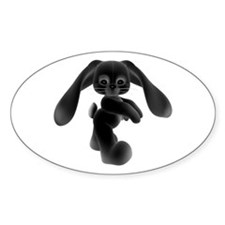 Black Bunny - Baby Steps Oval Decal