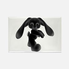 Black Bunny - Baby Steps Rectangle Magnet