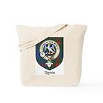 Agnew Clan Crest Tartan Tote Bag