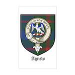 Agnew Clan Crest Tartan Rectangle Sticker