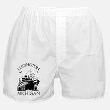 Ludington Michigan Boxer Shorts