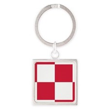 pl1 Square Keychain