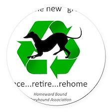 RGB-Recycled-greyhound Round Car Magnet