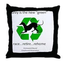 RGB-Recycled-greyhound Throw Pillow