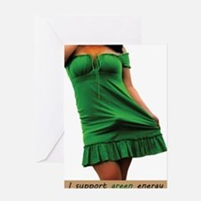 green_dress1 Greeting Card