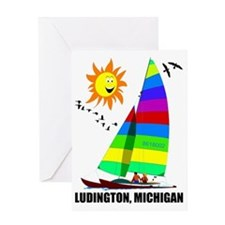 LUDINGTON 4 Greeting Card