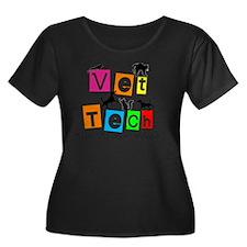 Vet Tech Women's Plus Size Dark Scoop Neck T-Shirt