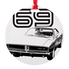 1969 Charger 03 Round Ornament
