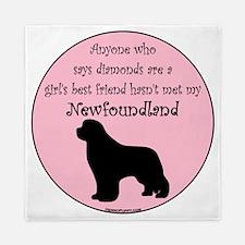 Newf - Girls Best Friend Queen Duvet