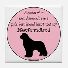 Newf - Girls Best Friend Tile Coaster