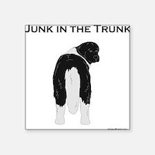 "Landseer Junk in the Trunk Square Sticker 3"" x 3"""