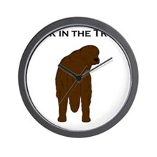 Brown Newf Junk in the Trunk Wall Clock