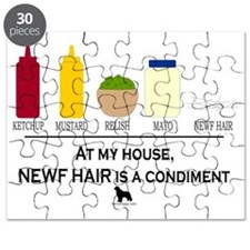 Newf Hair is a Condiment Puzzle