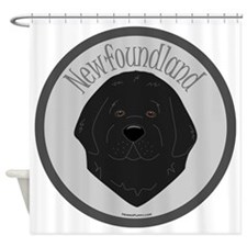 NewfieCircle Shower Curtain