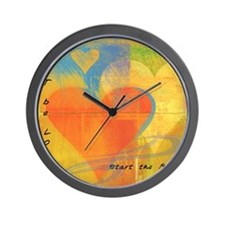 patchwork love ripple Wall Clock