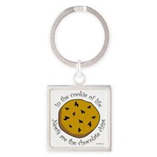 Newfs are the Chocolate Chips Square Keychain