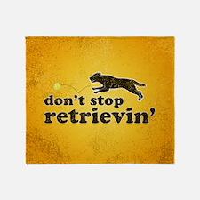 retrievin-distressedbgchocsq Throw Blanket