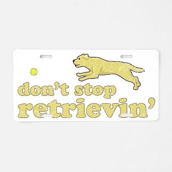 retrievin-yellowdk Aluminum License Plate