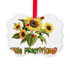 Nurse Practitioner Sunflowers Ornament