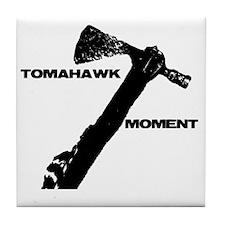 TOMAHAWK-SHIRT-TRANSP Tile Coaster