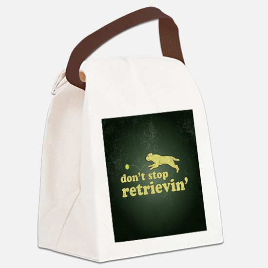 retrievin-distressedbgyelsq Canvas Lunch Bag