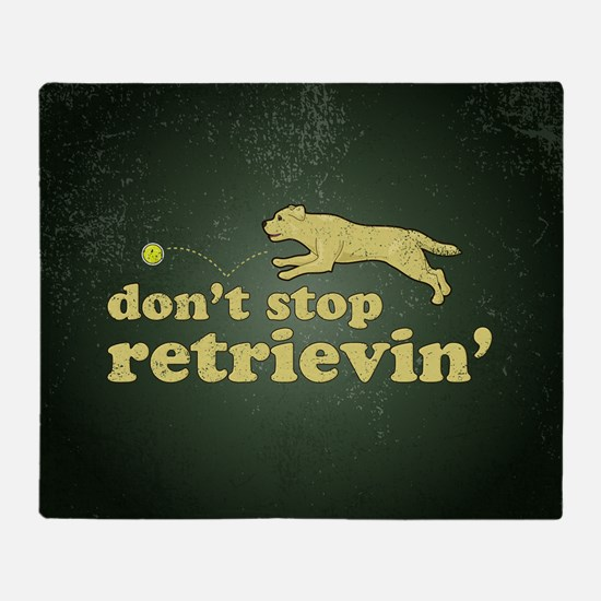 retrievin-distressedbgyelsq Throw Blanket