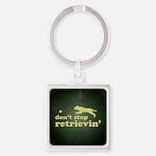 retrievin-distressedbgyelsq Square Keychain